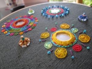 Shisha mirror work sampler