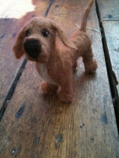 dachsund needlefelt