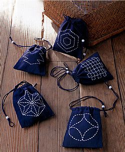 sashiko drawstring mini