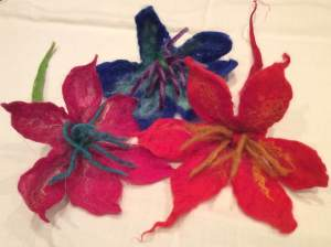 Felt flowers WI